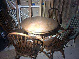 Hard wood Dining room table & 4 chairs for Sale in Wichita, KS