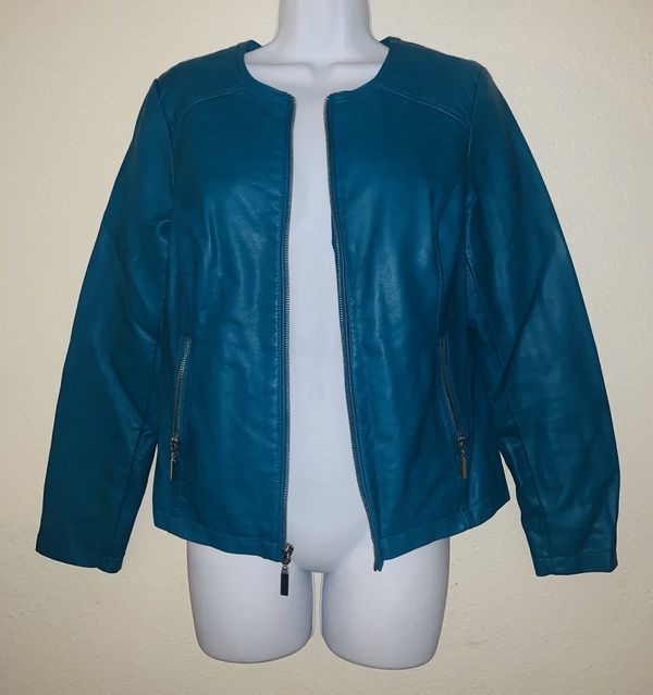 Moving must sell!!! Turquoise Jacket🧥 Size Small (Alfani)