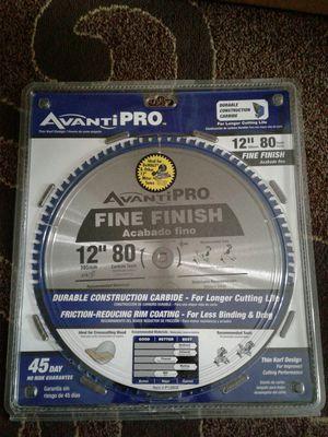 "Avanti Pro 12"" 80-Teeth Fine Finish Saw Blade for Sale in Everett, WA"