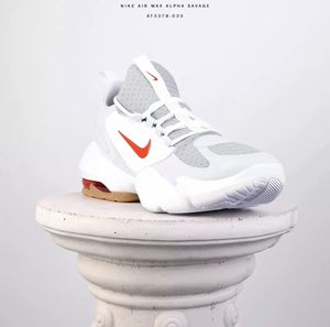 Nike Air Max Alpha Savage Men Train Training Shoes New Wolf Grey Red AT3378-030 for Sale in Pasadena, CA