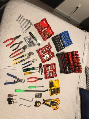 Lot of Tools (Screwdrivers, Drill Bits, Ratchets and Sockets, Wrenches, etc.) for Sale in Portland, OR