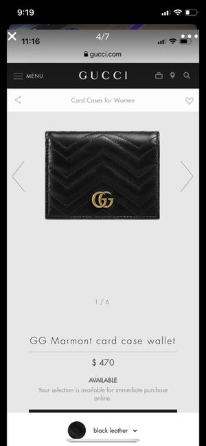 Gucci wallet card case for Sale in Los Angeles, CA