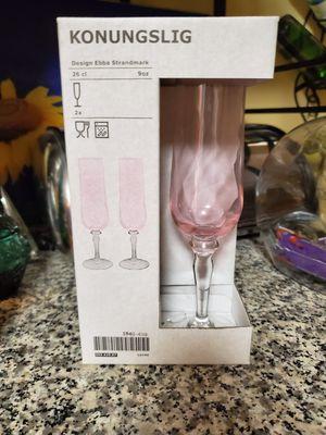 Two NIB Konungslig Champagne Flutes 9oz for Sale in Virginia Beach, VA