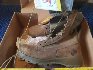 2 Pairs of Belleville Size 8.5 and 9 regular steel toe Marine Corp boots. $80/EACH or 150 for both pairs. Condition: New for Sale in Muncy, PA