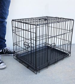 "(New In Box) $25 Folding 24"" Dog Cage 2-Door Folding Pet Crate Kennel w/ Tray 24""x17""x19"" for Sale in Whittier,  CA"