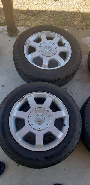 Stock Cadillac rims with original tires for Sale in Las Vegas, NV