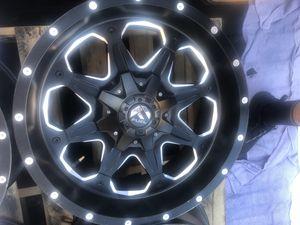 Fuel 20 inch wheels/Rims BLACK 20x9 (8x180) bolt pattern. for Sale in Henderson, NV