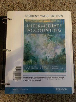 Intermediate Accounting Book for Sale in Mansfield, OH