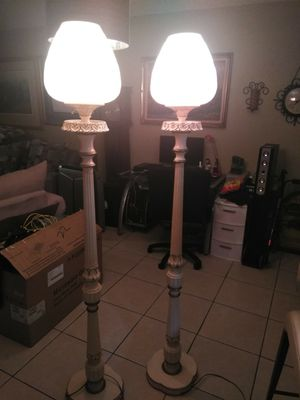 Two beautiful floor lamps 70 inches tall for Sale in Boca Raton, FL