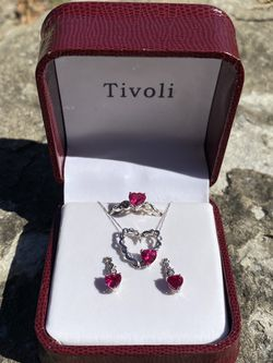 ♥️ FULL SET! Ruby Set in 10K White Gold for Sale in Pensacola,  FL
