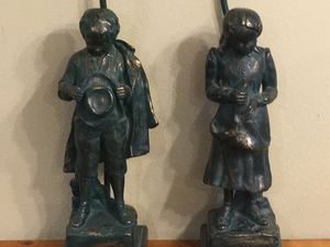 Antique boy and girl lamps for Sale in Portland, OR