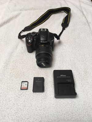 Nikon D3200 Digital SLR Camera With Nikon AF-S DX 18-55mm 1:3.5-5.6G VR II LENS Plus Battery, Charger, and 32GB Card for Sale in Bellevue, WA