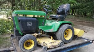 John Deere 317 Lawn Tractor with Mower and Tiller for Sale in Williamsburg, MI