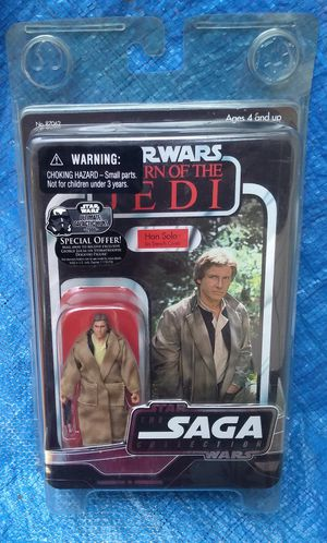 Star Wars Saga Collection Han Solo In Trench Coat Action Figure MOC MIP Hasbro Return Of The Jedi 2006 for Sale in Pasadena, CA