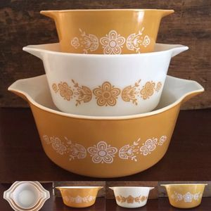 Pyrex 473 474 and 475 Butterfly Gold Round Casserole 3 Piece Set for Sale in Dardenne Prairie, MO