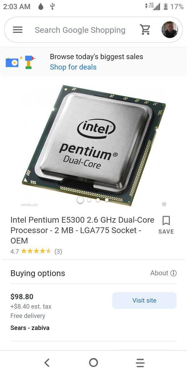 Intel dual core E5300 pentium