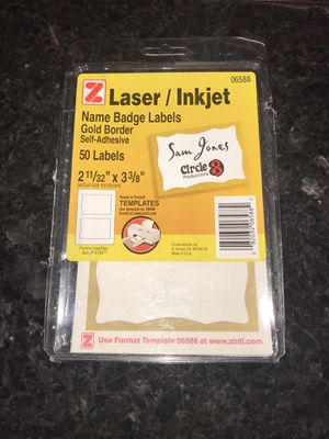 Laser/Inkjet Name badge labels for Sale in Harrisonburg, VA