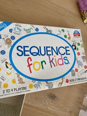 Sequence board game for kids ages 3-6 for Sale in Danville, CA