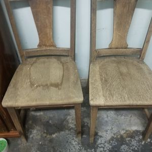 2 Old Wooden Chairs for Sale in Everett, WA