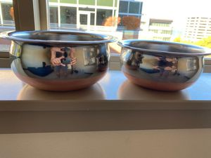 Copper Coated Thick Bottom Pots set of 2 (handi style) for Sale in Seattle, WA