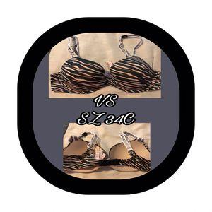 (NWST) VS Zebra Stripe Push-up bra SZ 34C for Sale in Picayune, MS