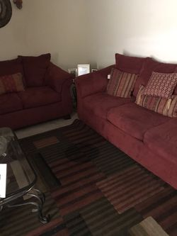 Couch set 300.00 with pillows for Sale in O'Fallon,  IL
