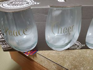 A set of four wine glasses for Sale in Land O Lakes, FL