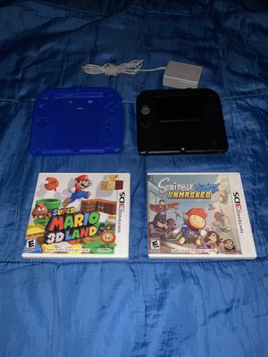 Nintendo 2DS with charger , Super Mario World 3D, And Scribblenauts for Sale in Houston, TX