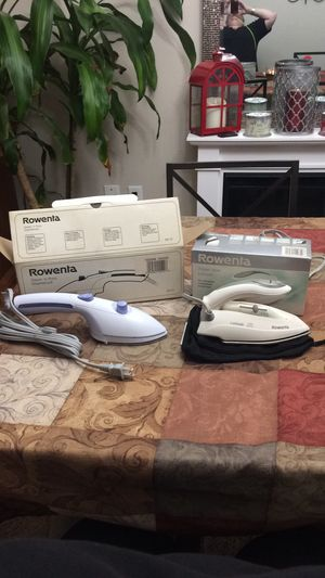 Rowenta steam brush and travel iron for Sale in Hanover, MD