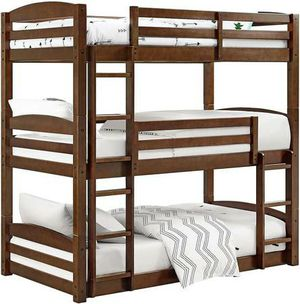 BH&G Tristan Twin Wood Bed New in Box (Mocha) for Sale in Las Vegas, NV