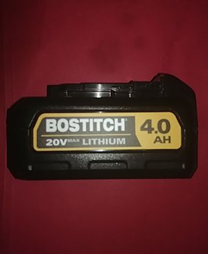Bostitch 20v max 4.0 AH for Sale in Cookstown, NJ