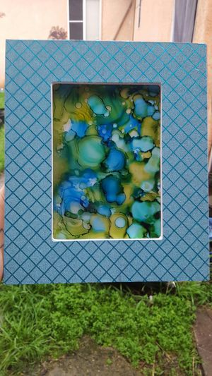 Abstract art in blue frame. Green for Sale in Hayward, CA