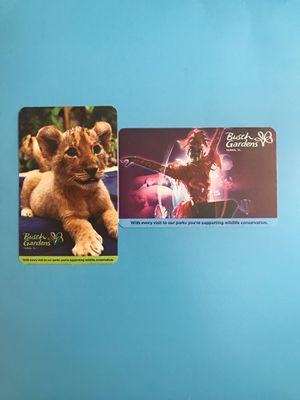 Busch Gardens Tickets (2, expire 07/20/20) for Sale in Miami, FL