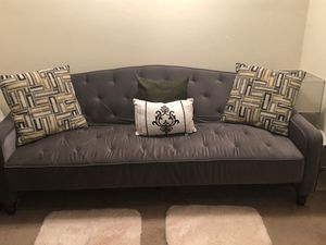 Gray Tufted Couch for Sale in Virginia Beach, VA