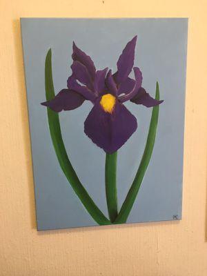 Iris Painting Original for Sale in Philadelphia, PA