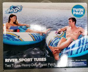2 Heavy Duty Pool Water Tubes w/cup Holders & Handel's new in box for Sale in Los Angeles, CA