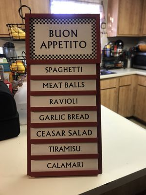 A very nice Buon Appetito wooden sign. it could stand or you can hang it for $50 See more description below pick up only sorry I don't Deliver than for Sale in Diamond Bar, CA