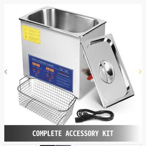 6l Ultrasonic Cleaner Stainless Steel Industry Heated Heater W/timer for Sale in Long Beach, CA