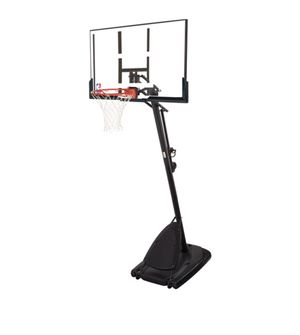 """spalding 54"""" portable angled basketball hoop with polycarbonate backboard for Sale in Austin, TX"""