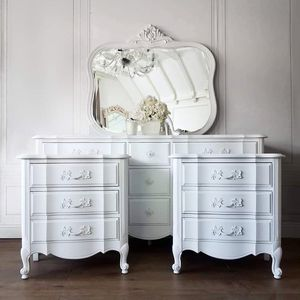Angelic French Provincial Dresser Mirror Nightstand Set - delivered for Sale in Riverside, CA