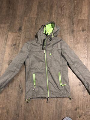 Superdry men's XS jacket grey green hoodie blazer for Sale in Seattle, WA