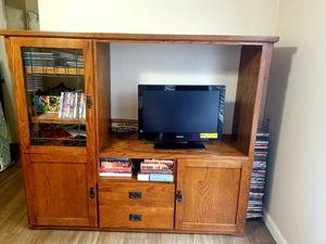 """TV Cabinet / Book Shelf - Vintage Design - height - 59"""" length - 71"""" width - 21"""" for Sale in Chandler, AZ"""