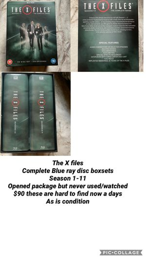 The X-Files complete blue ray series 1-11 for Sale in Vermontville, MI