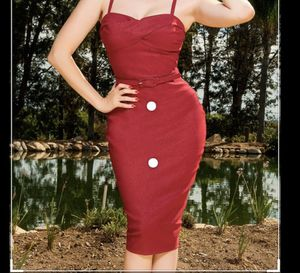 PinupGirl DixieFried Glamour Girl Dress in Burgandy 2X for Sale in Pico Rivera, CA