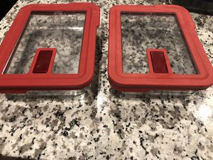 Pyrex 3 Cup Rectangular Food Storage Container / Red No Leak Vented Storage Lid 7211-PC for Glass lid for Sale in Elkridge, MD