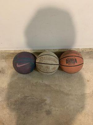 Spalding NBA Basketballs + Nike Ball for Sale in Schaumburg, IL