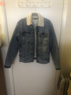 H&M Fur Denim Jacket for Sale in Springfield, VA