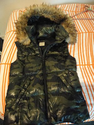 Cool shiny camouflage down vest for Sale in Seattle, WA