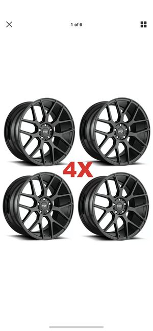 20 Black Wheels Rims Mustang Staggered for Sale in Norwalk, CA
