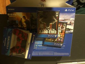 PlayStation 4, wireless controller and games for Sale in Seattle, WA